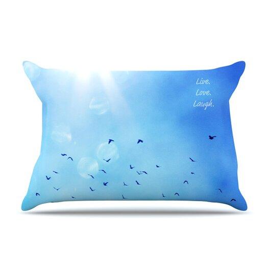 KESS InHouse Live Laugh Love Pillow Case