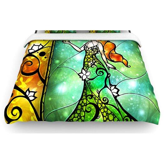 "KESS InHouse ""Fairy Tale Frog Prince"" Woven Comforter Duvet Cover"
