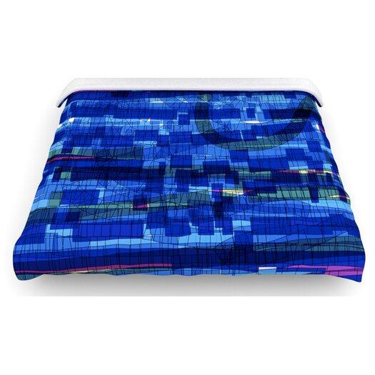"""KESS InHouse """"Squares Traffic"""" Woven Comforter Duvet Cover"""