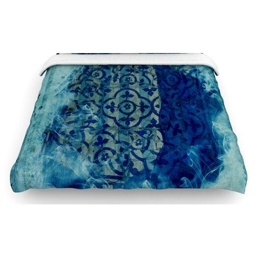 """KESS InHouse """"Mosaic in Cyan"""" Woven Comforter Duvet Cover"""