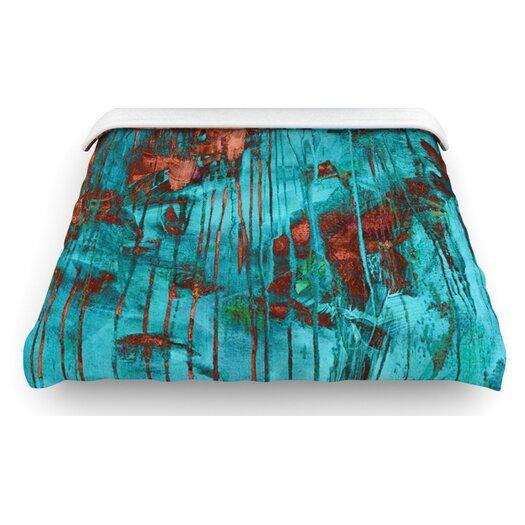 "KESS InHouse ""Rusty Teal"" Paint Woven Comforter Duvet Cover"