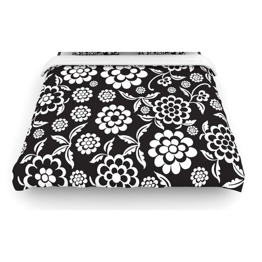 "KESS InHouse ""Cherry Floral"" Woven Comforter Duvet Cover"