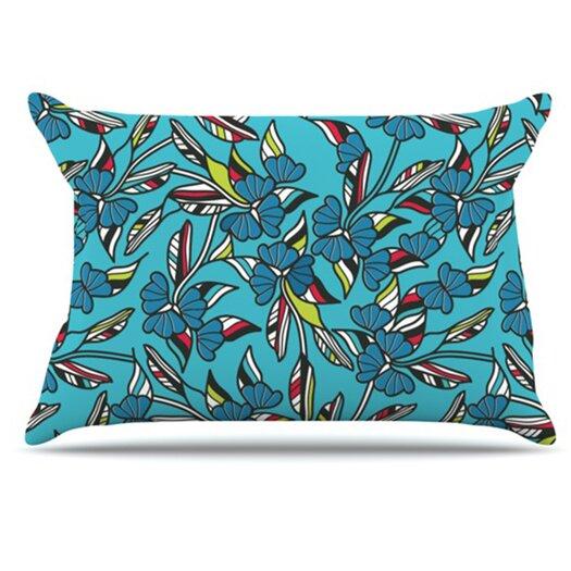KESS InHouse Paper Leaf Pillowcase