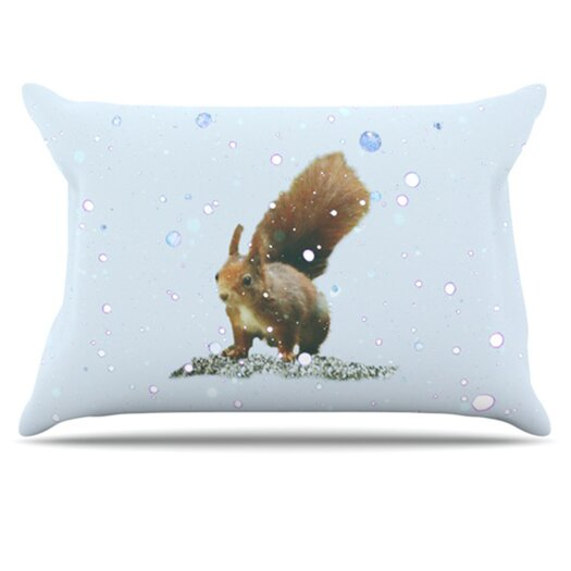 KESS InHouse Squirrel Pillowcase
