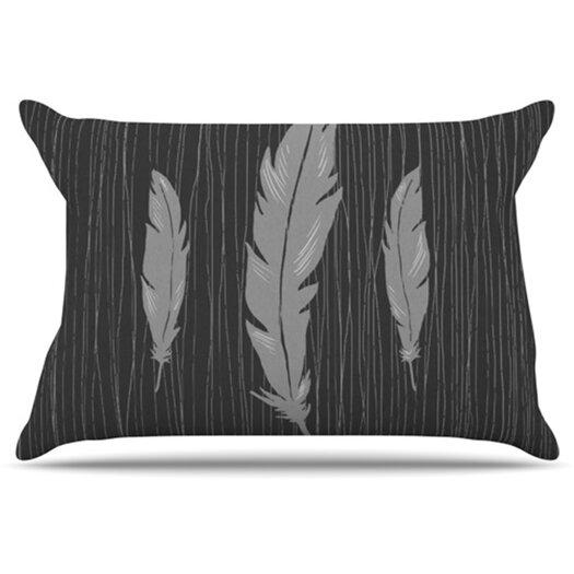 KESS InHouse Feathers Pillowcase