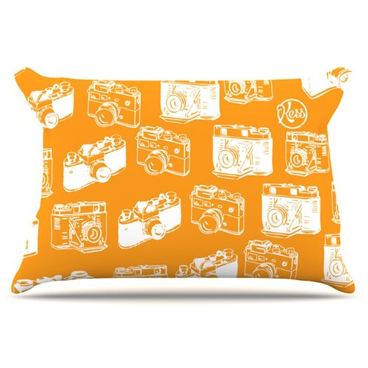 KESS InHouse Camera Pattern Pillowcase