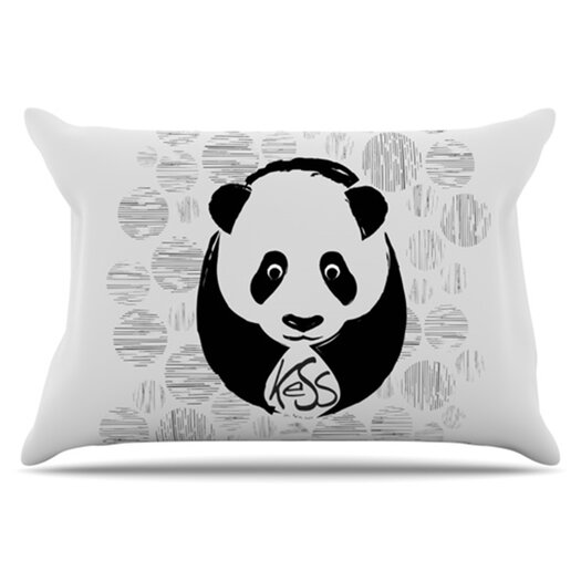 KESS InHouse Panda Pillowcase
