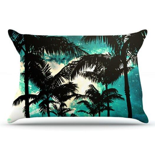 KESS InHouse Palm Trees and Stars Pillowcase