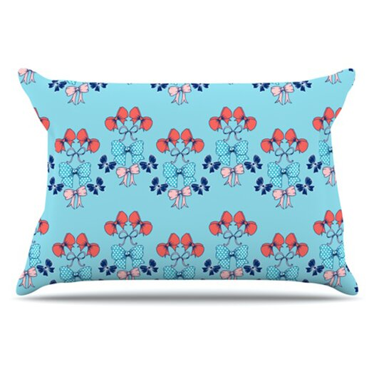 KESS InHouse Bows Pillowcase