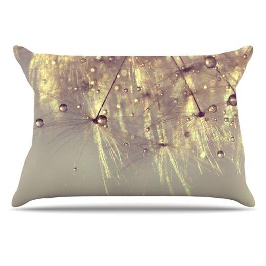 KESS InHouse Sparkles of Gold Pillowcase