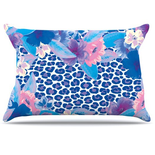 KESS InHouse Leopard Pillowcase