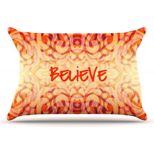 KESS InHouse Tattooed Believer Pillowcase