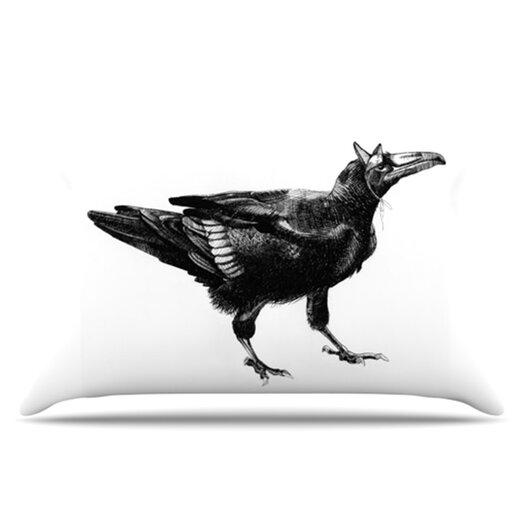 KESS InHouse Raven Pillowcase