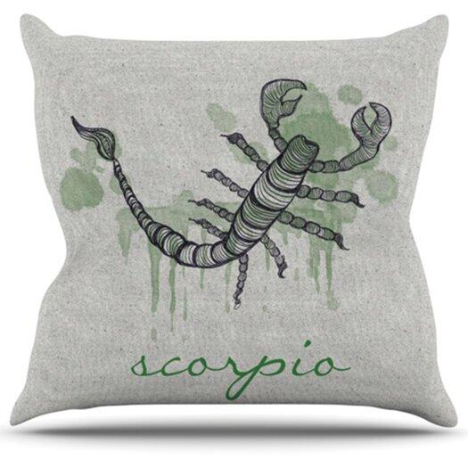 KESS InHouse Scorpio Throw Pillow