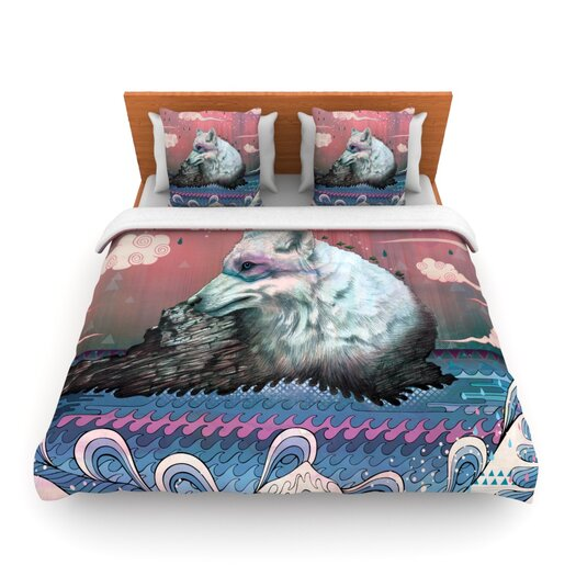 KESS InHouse Lone Wolf Duvet Cover