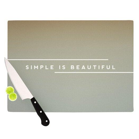 KESS InHouse Simple Beautiful Cutting Board
