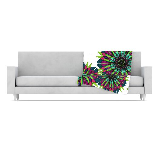 KESS InHouse Bright Microfiber Fleece Throw Blanket