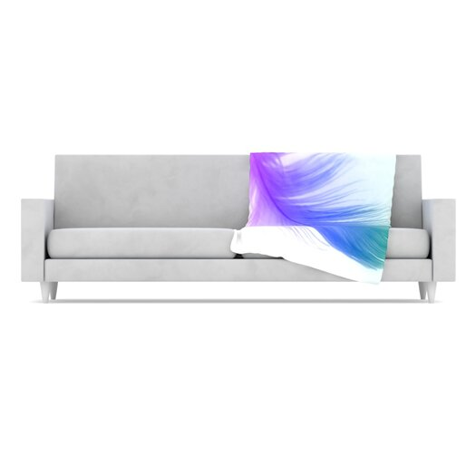 KESS InHouse Feather Microfiber Fleece Throw Blanket