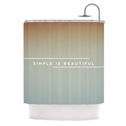 KESS InHouse Simple Beautiful Polyester Shower Curtain