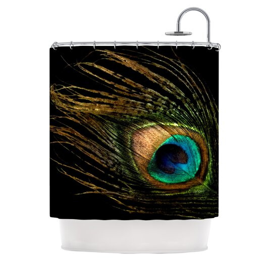 KESS InHouse Peacock Polyester Shower Curtain