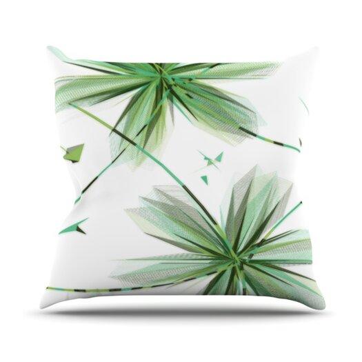 KESS InHouse Flower Throw Pillow