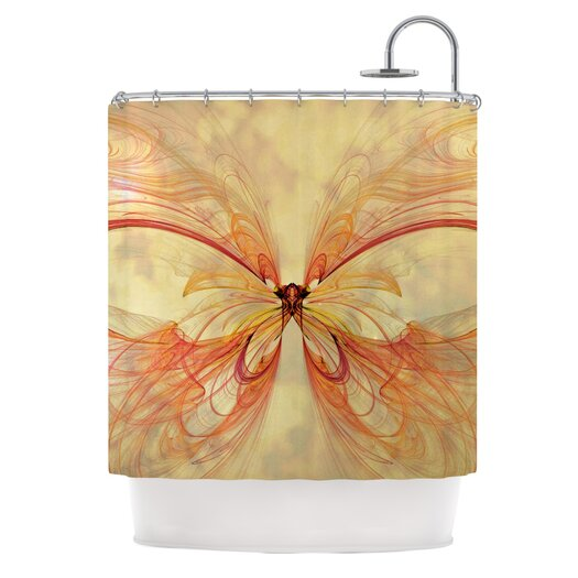 KESS InHouse Papillion Polyester Shower Curtain