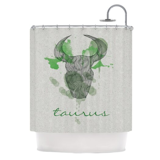 KESS InHouse Taurus Polyester Shower Curtain