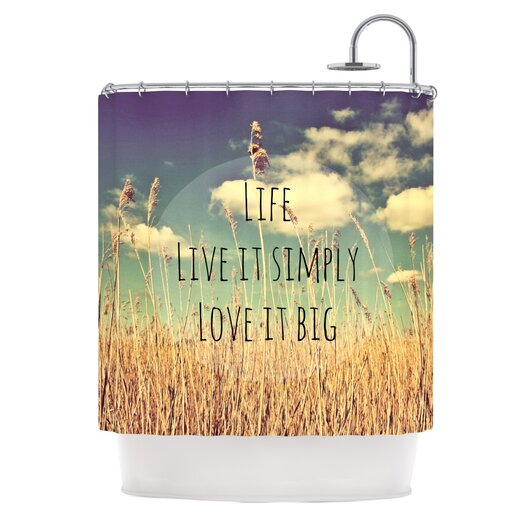 KESS InHouse Life Polyester Shower Curtain