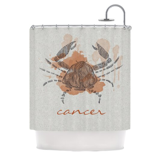 KESS InHouse Cancer Polyester Shower Curtain