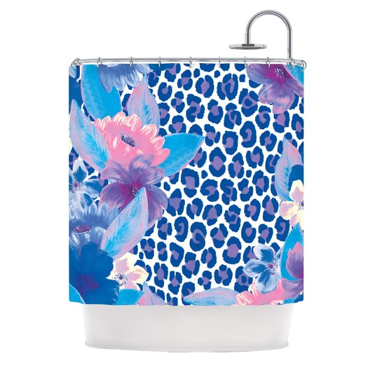 KESS InHouse Leopard Polyester Shower Curtain
