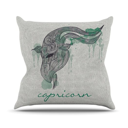 KESS InHouse Capricorn Throw Pillow