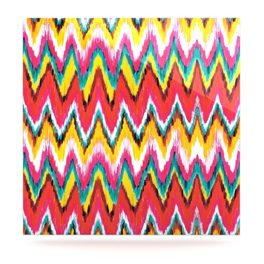 KESS InHouse Painted Chevron by Aimee St Hill Graphic Art Plaque