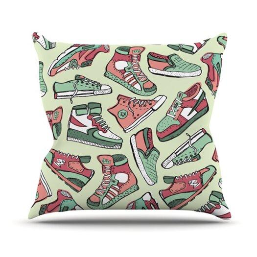 KESS InHouse Sneaker Lover II Throw Pillow