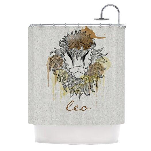 KESS InHouse Leo Polyester Shower Curtain