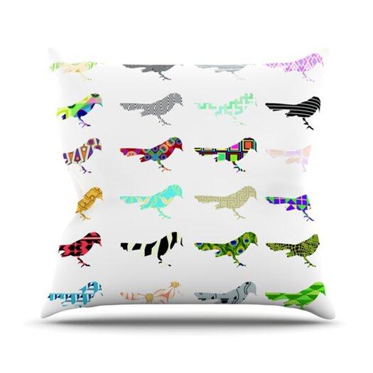 KESS InHouse Birds Throw Pillow