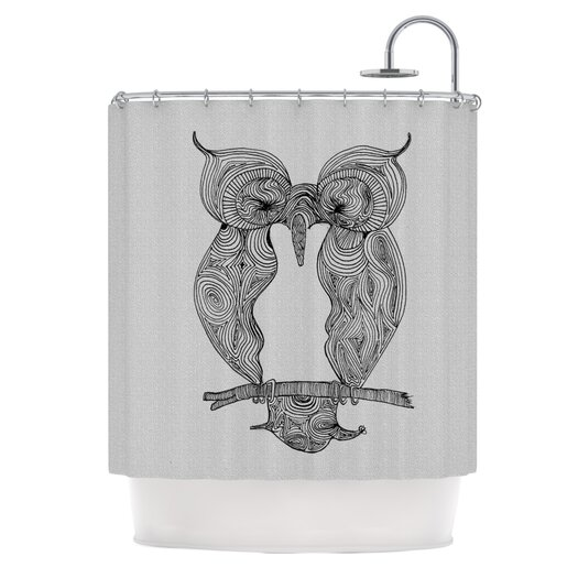 KESS InHouse Owl Polyester Shower Curtain