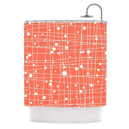 KESS InHouse Woven Web I Polyester Shower Curtain