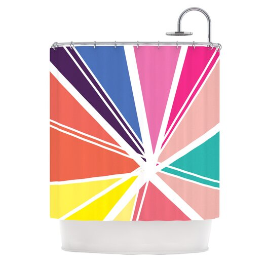 KESS InHouse Boldly Bright Polyester Shower Curtain