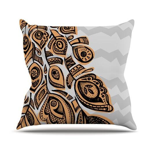 KESS InHouse Peacock Throw Pillow