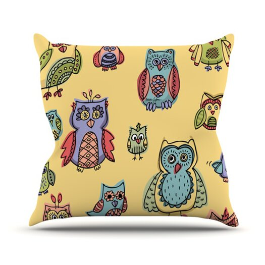 KESS InHouse Owls Throw Pillow