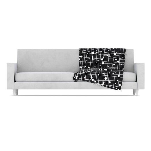 KESS InHouse Woven Web Mono Microfiber Fleece Throw Blanket