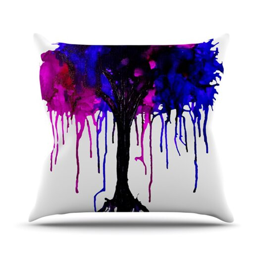 KESS InHouse Weeping Willow Throw Pillow