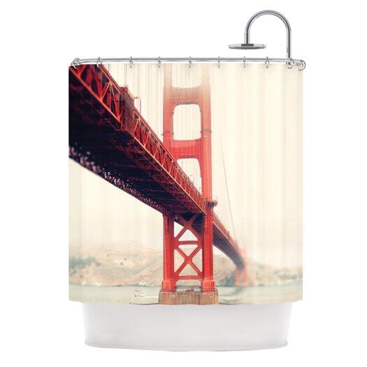 KESS InHouse Golden Gate Polyester Shower Curtain