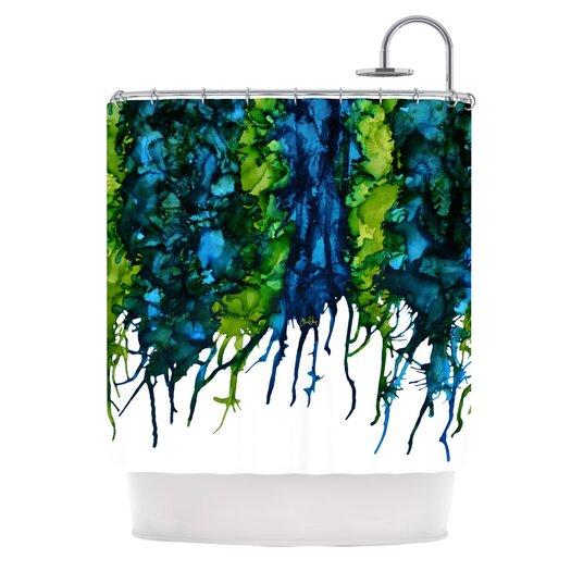 KESS InHouse Drop Polyester Shower Curtain