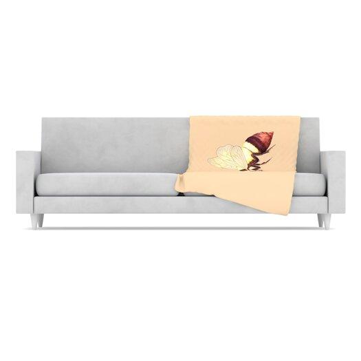 KESS InHouse Be Happy Fleece Throw Blanket