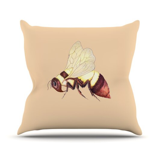 KESS InHouse Be Happy Throw Pillow