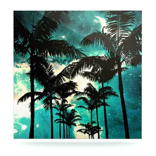 KESS InHouse Palm Trees and Stars by Caleb Troy Graphic Art Plaque