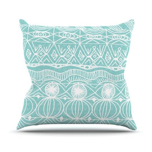 KESS InHouse Beach Blanket Bingo Throw Pillow