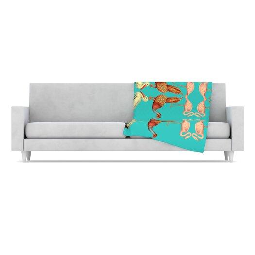 KESS InHouse Glu Glu Microfiber Fleece Throw Blanket