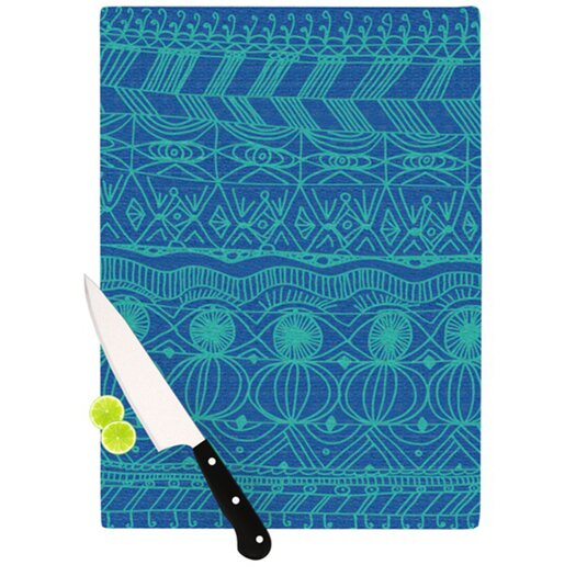 KESS InHouse Beach Blanket Confusion Cutting Board